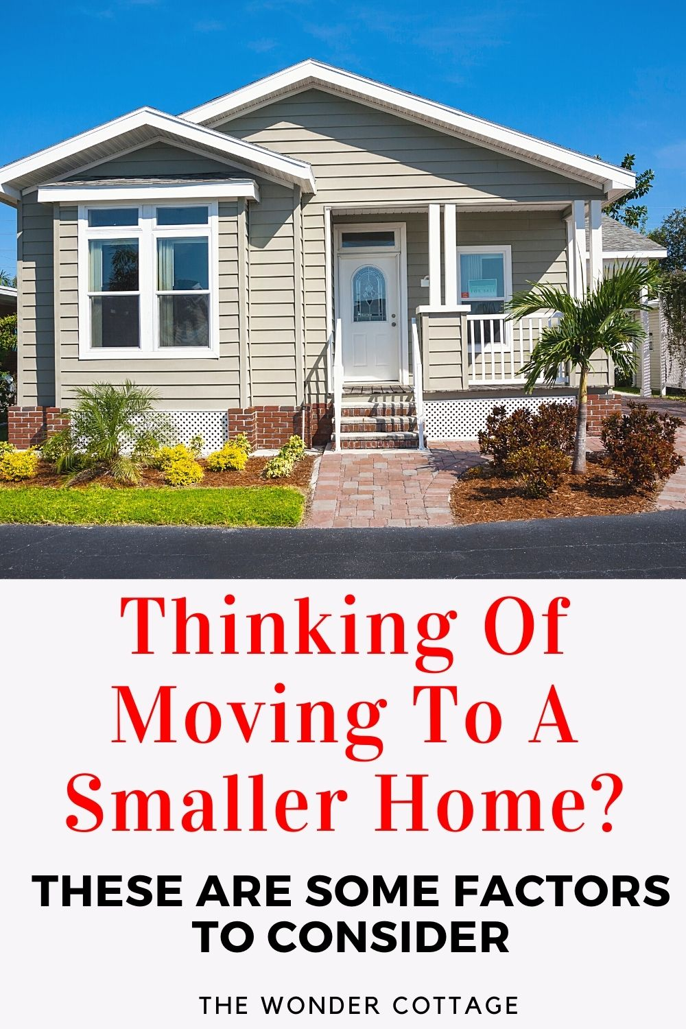 Things to consider if you are thinking of moving to a smaller home