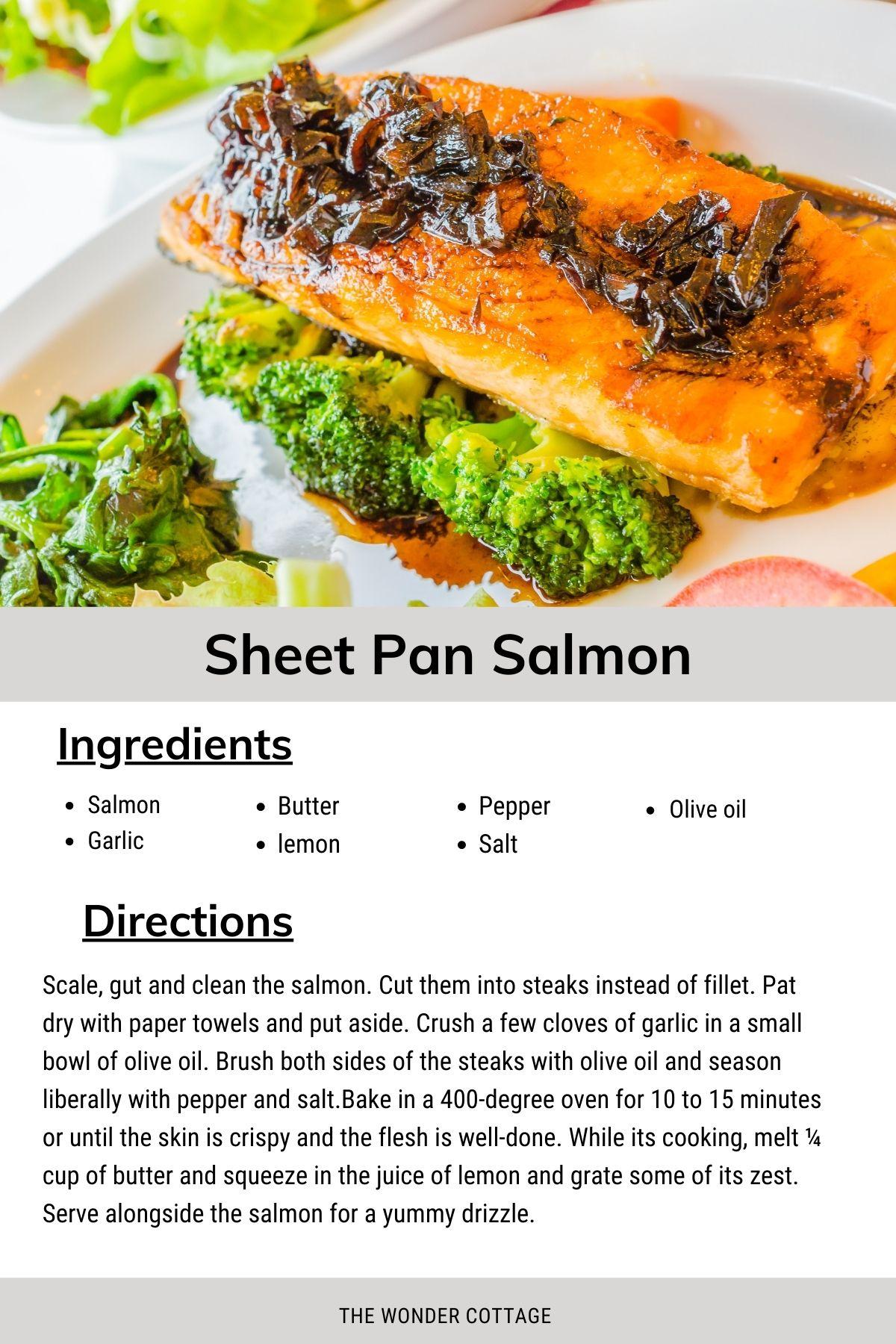 sheet pan salmon - fresh fish recipe