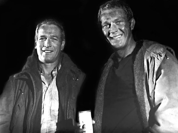 paul-newman-and-steve-mcqueen-towering-inferno-set