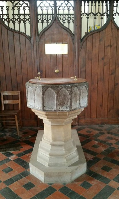 Font Nelson was baptised in