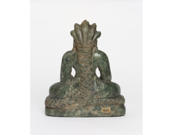 Reverse of the image showing the serpent Dharanendra sheltering Parshvanatha