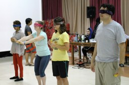 Who doesn't love a game with blindfolds?