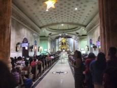 The church full for midnight mass
