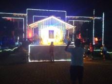 The lights outside the municipal hall