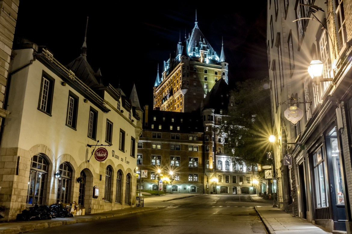 The Château Frontenac, seen from rue du Fort