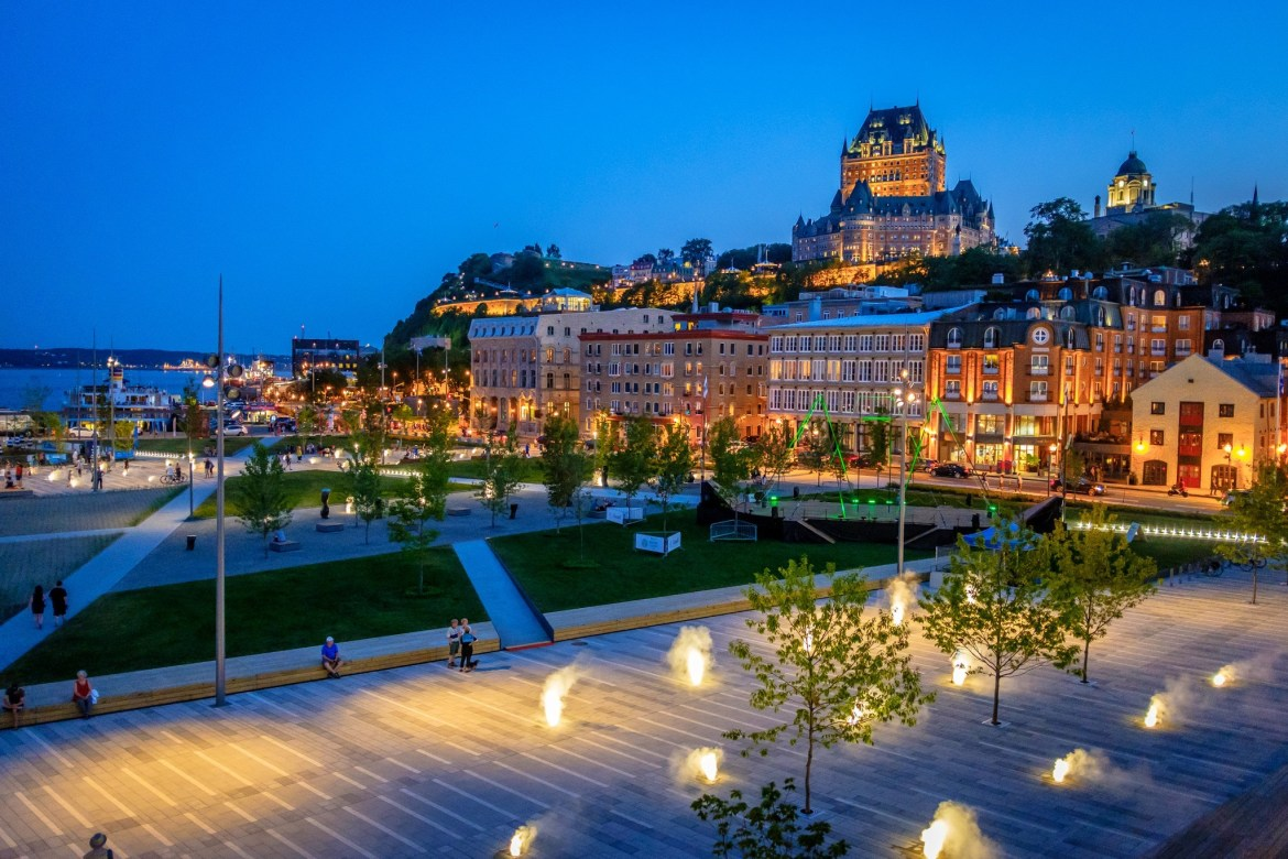 The Château Frontenac, seen from Place des Canotiers
