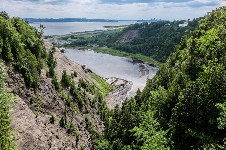 Chute Montmorency - vue sur le fleuve