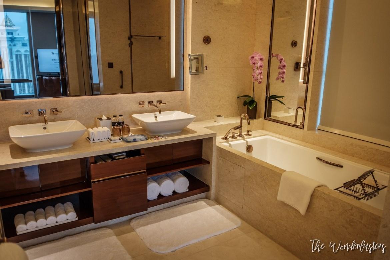 Our Bathroom at JW Marriott Hotel Macau