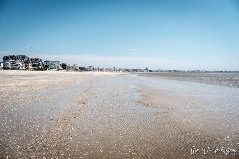 La Baule at low tide