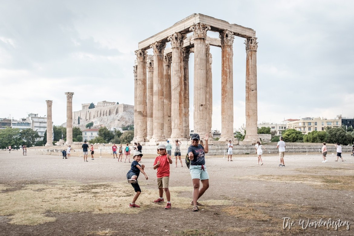 Athens - the Temple of Olympian Zeus