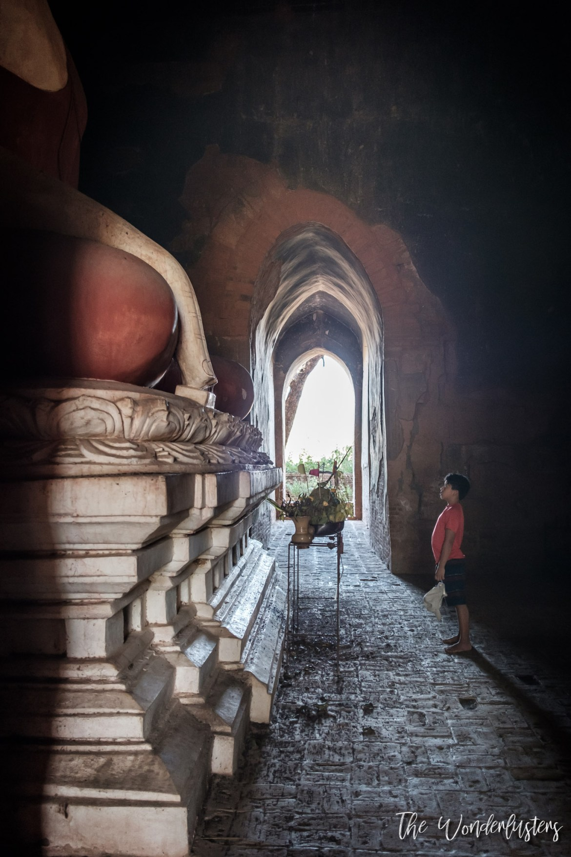 A Buddha inside a temple