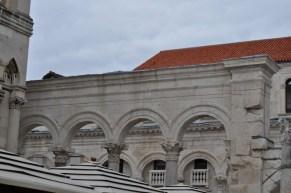 Vestiges du palais de l'empereur dioclentien en croatie