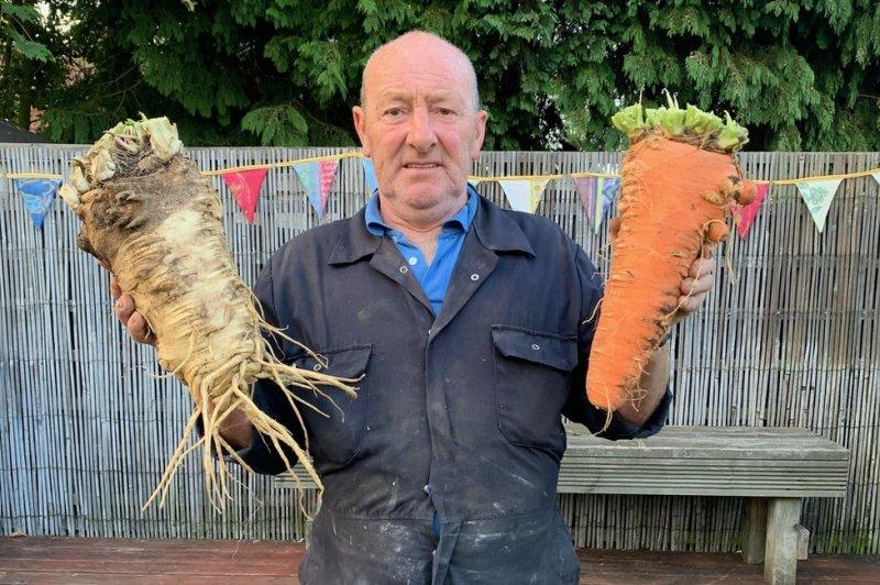 Uk farmers grow giant vegetables
