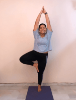 Nimisha Mathur showing off her perfect tree pose!