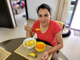 Ridhi Banerjee starting her day with a healthy breakfast!