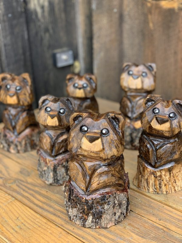 Tiny Bear Chainsaw Carvings by Kyra Waits