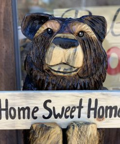 home sweet home chainsaw carved bear