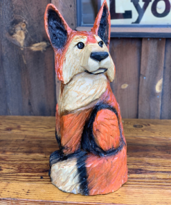 chainsaw carved fox