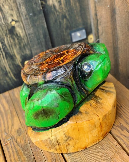 Turtle Chainsaw Carving