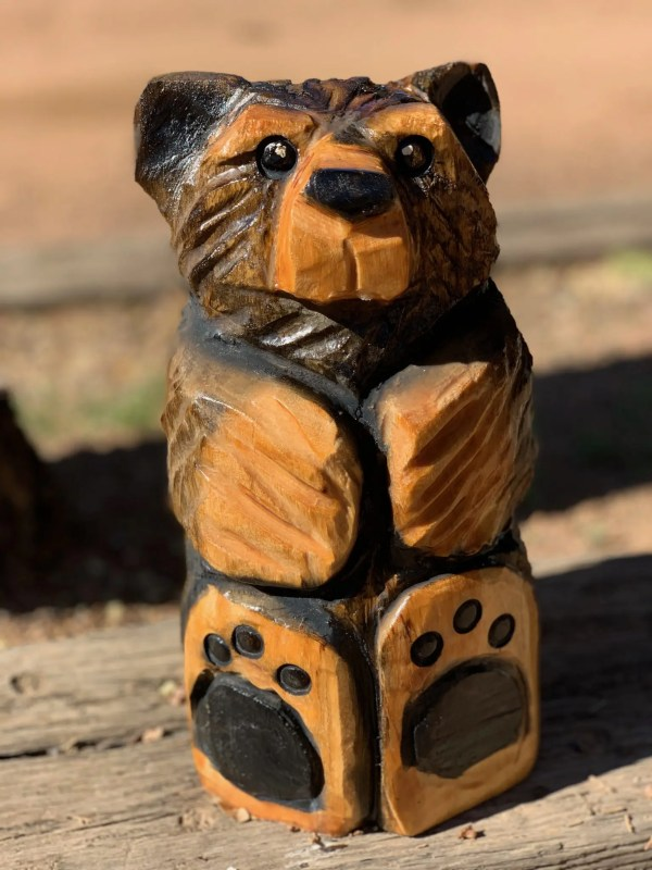 chainsaw bear carving for sale