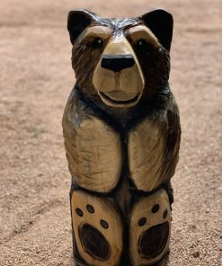 Sitting Bear Chainsaw Carving