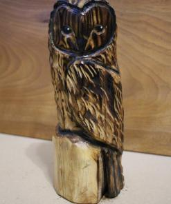 Small Owl Chainsaw Carving
