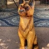 german shepard chainsaw carving