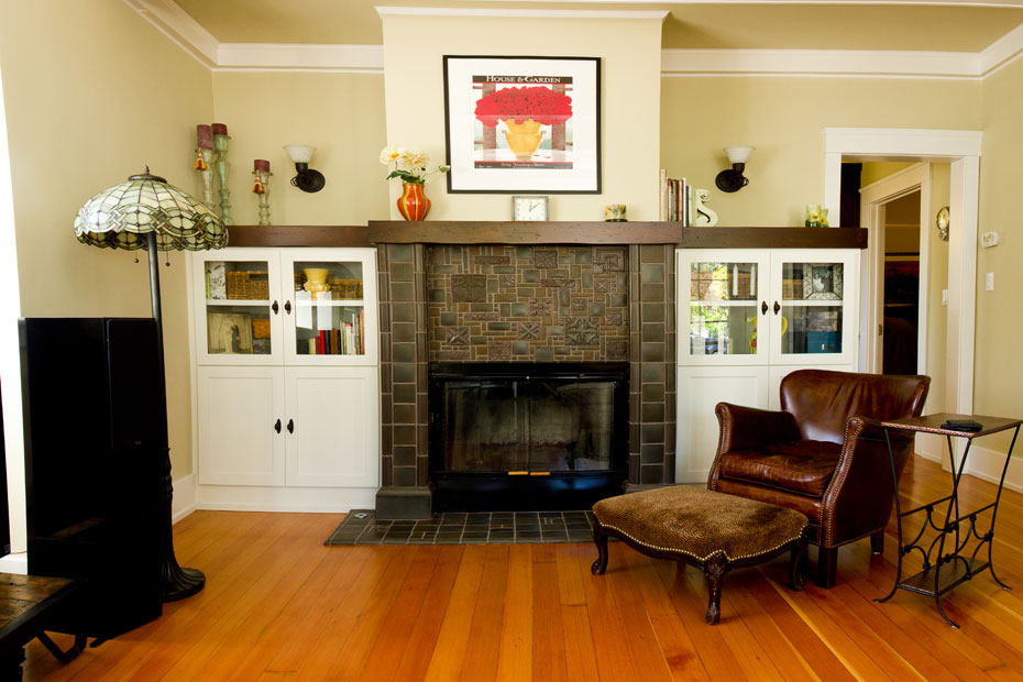 The Wood Connection Alder fireplace mantel
