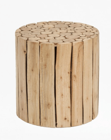 Natural side table.