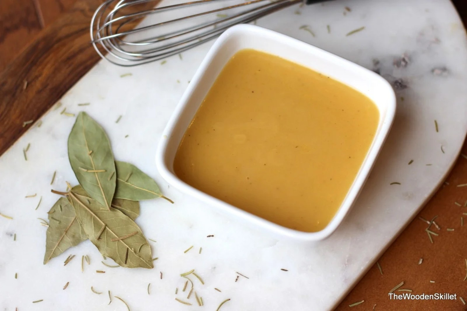 How to Make Sauce Veloute - simple recipe for sauce veloute (french mother sauce) that can be transformed in thousands of different recipes! thewoodenskillet.com