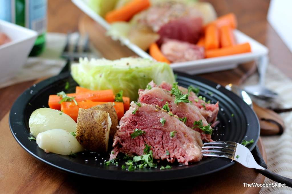 Corned Beef and Cabbage. The perfect recipe for St. Patrick's Day! thewoodenskillet.com