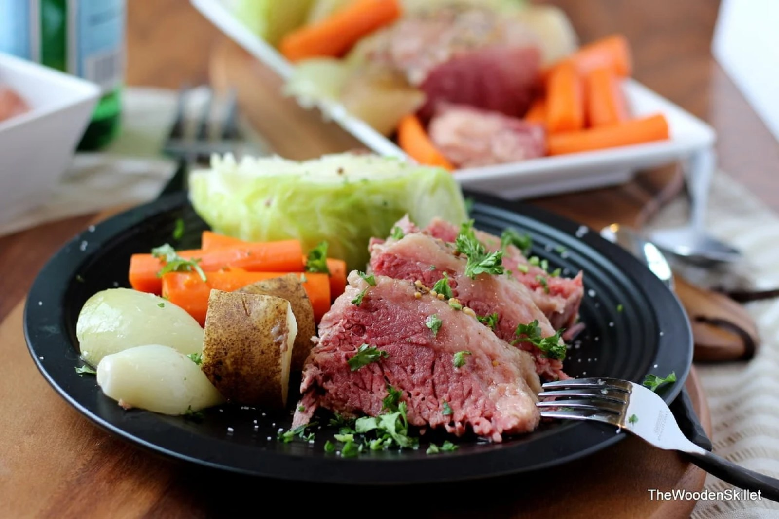 Corned Beef and Cabbage - the perfect St. Patrick's Day meal! thewoodenskillet.com