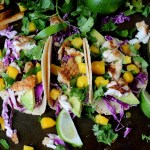 Fresh Fish Tacos with Avocado and Mango