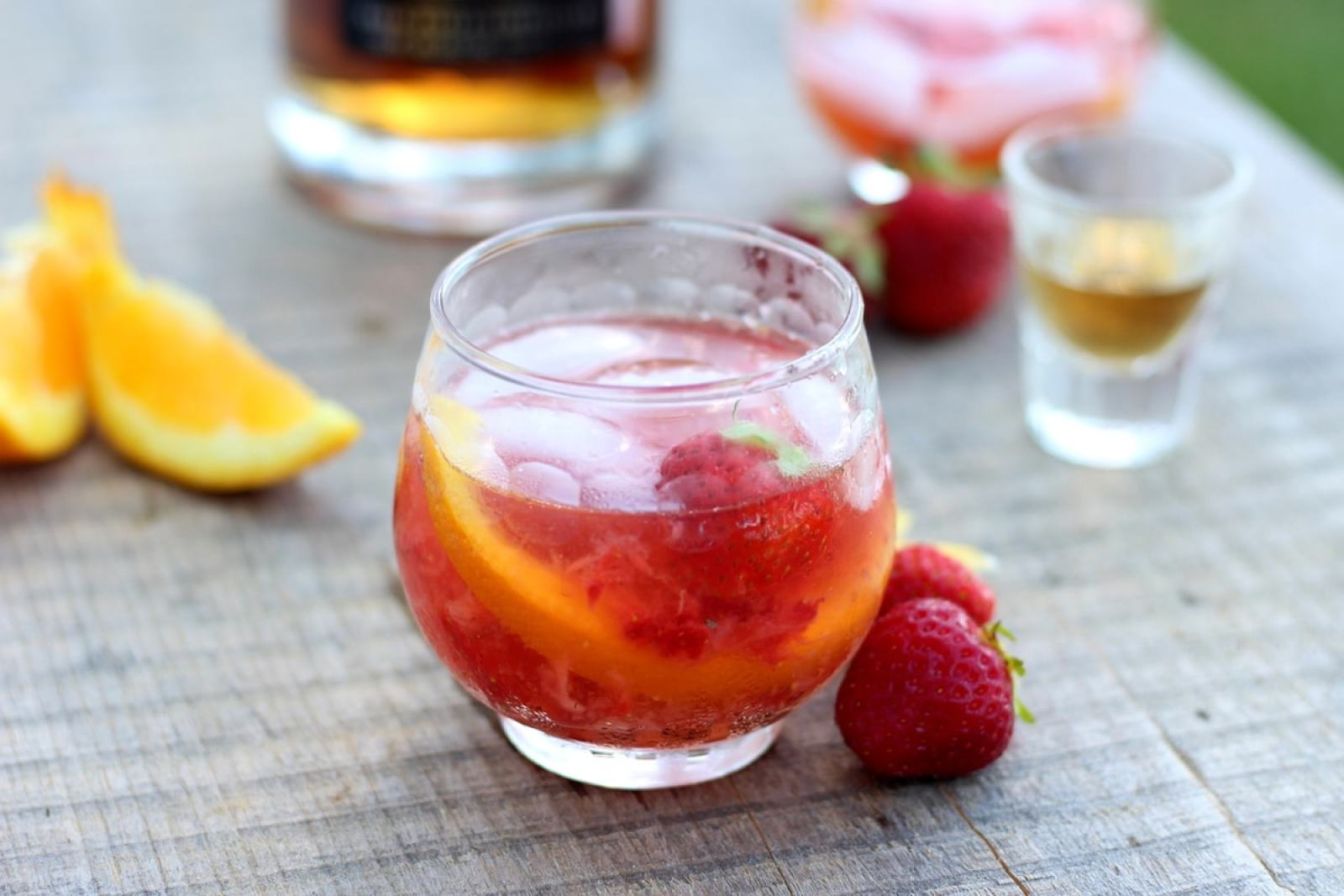 Strawberry Old-Fashioned