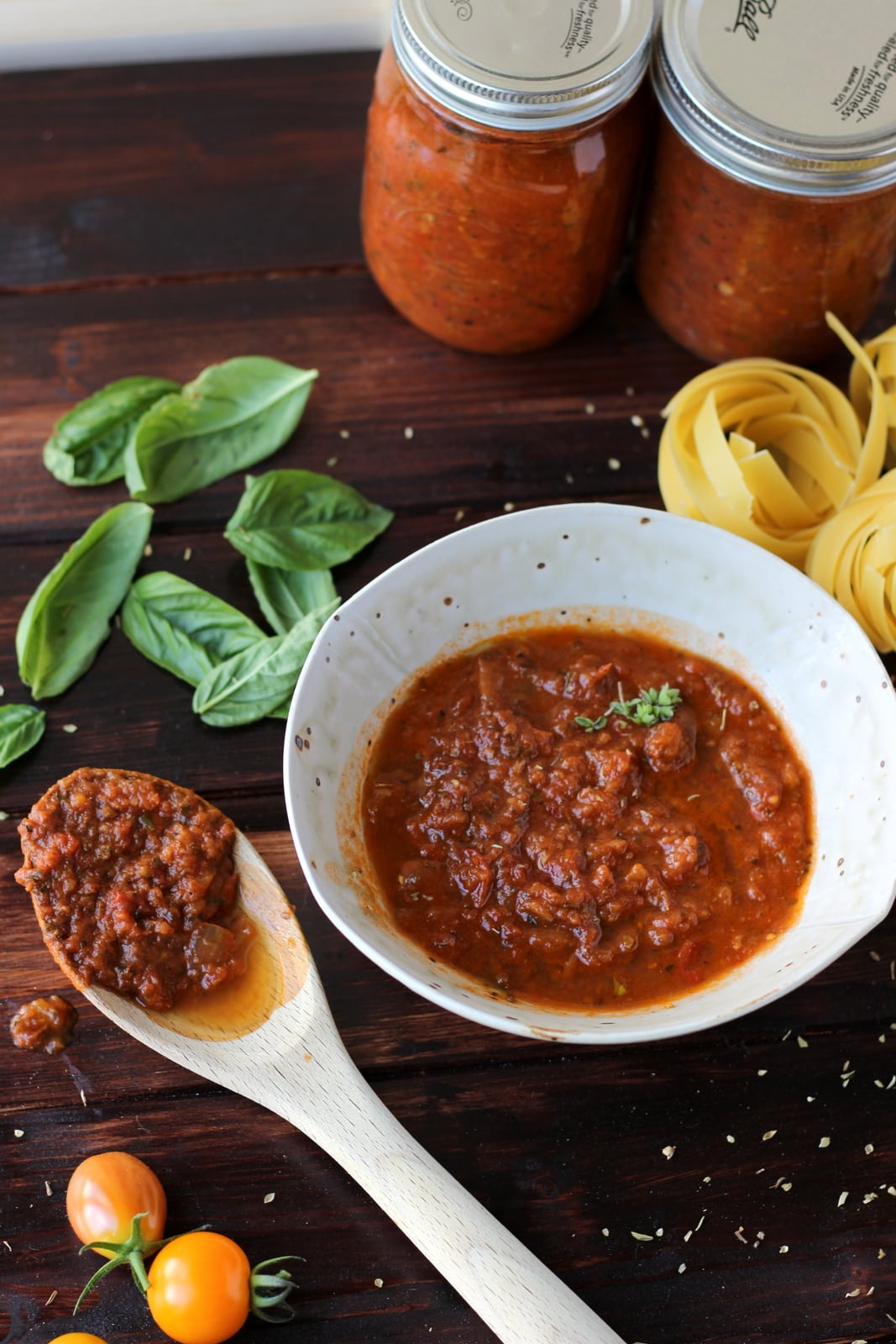 Slow-Roasted Spaghetti Sauce - no blanching required - thewoodenskillet.com