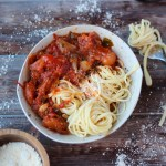Chunky Roasted Tomato Sauce + Noodles