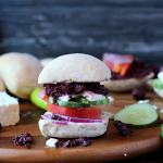 Greek Salad Sandwich with Kalamata Olive Tapenade + Greek Aioli