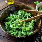 Simple Steamed Broccoli + Lemon and Parmesan Cheese
