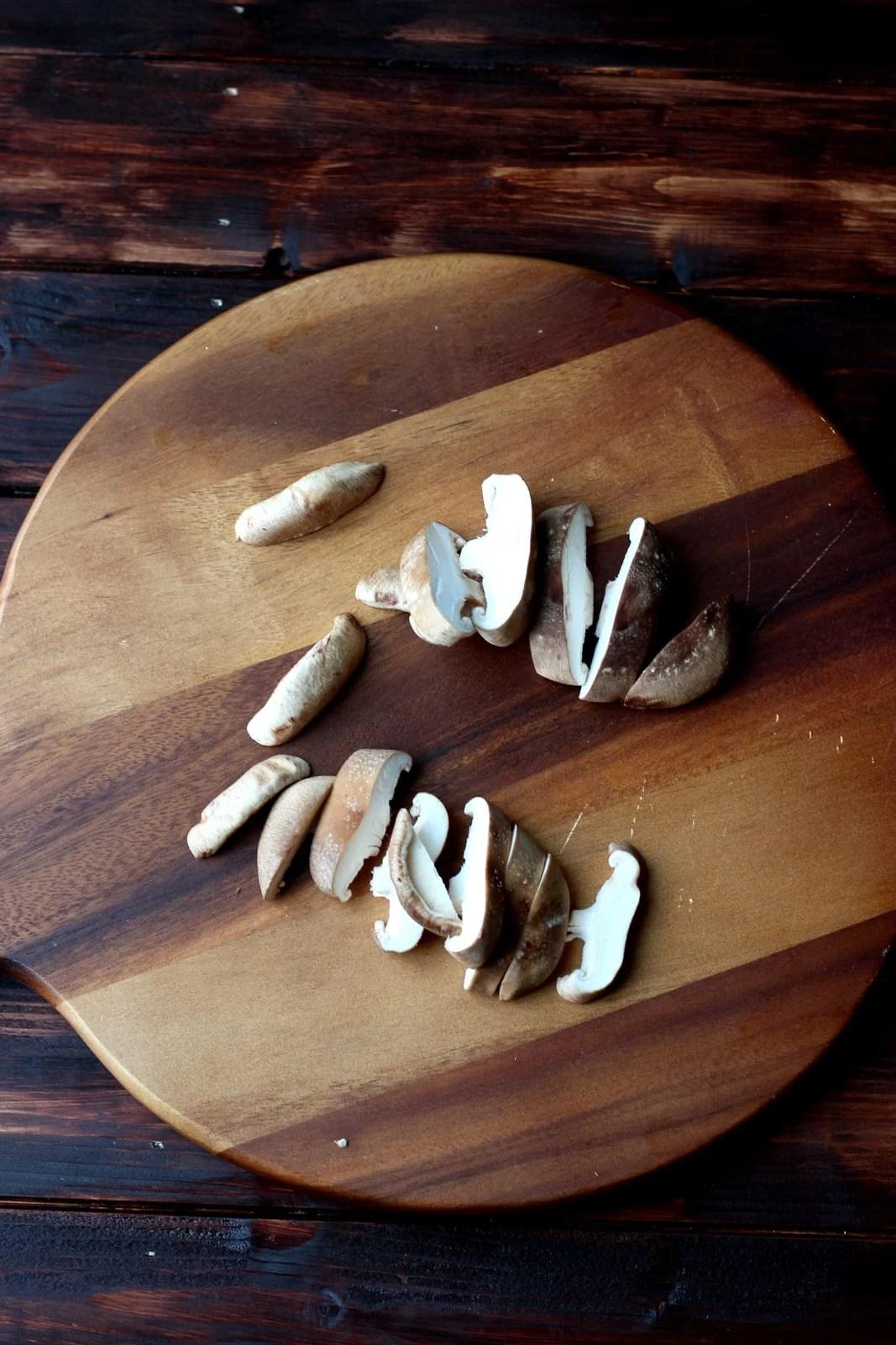 Shiitake Mushrooms for Miso Salmon