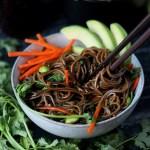 Soy Ginger Soba Noodles + Avocado and Edamame