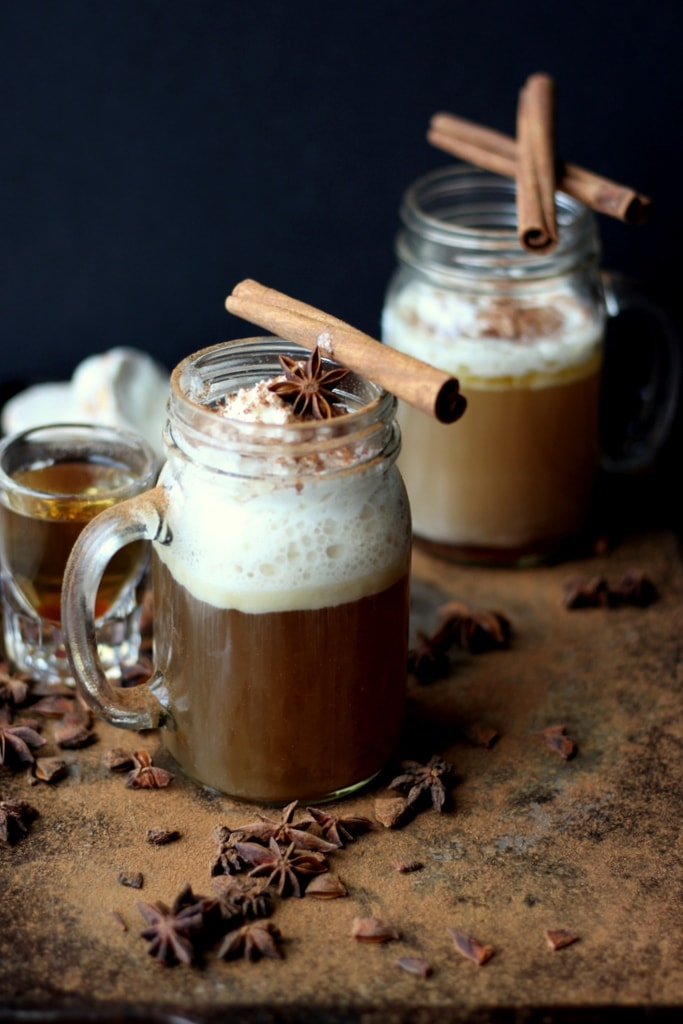 Cozy Hot Buttered Rum - the perfect holiday cocktail recipe! thewoodenskillet.com #foodphotoography