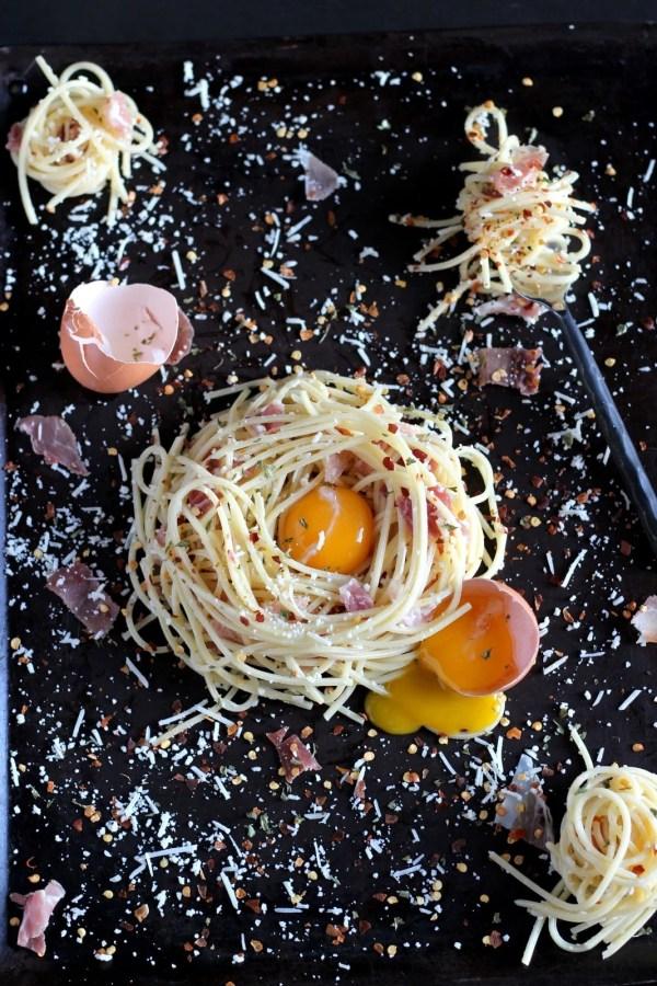 How to make classic spaghetti alla carbonara - thewoodenskillet.com