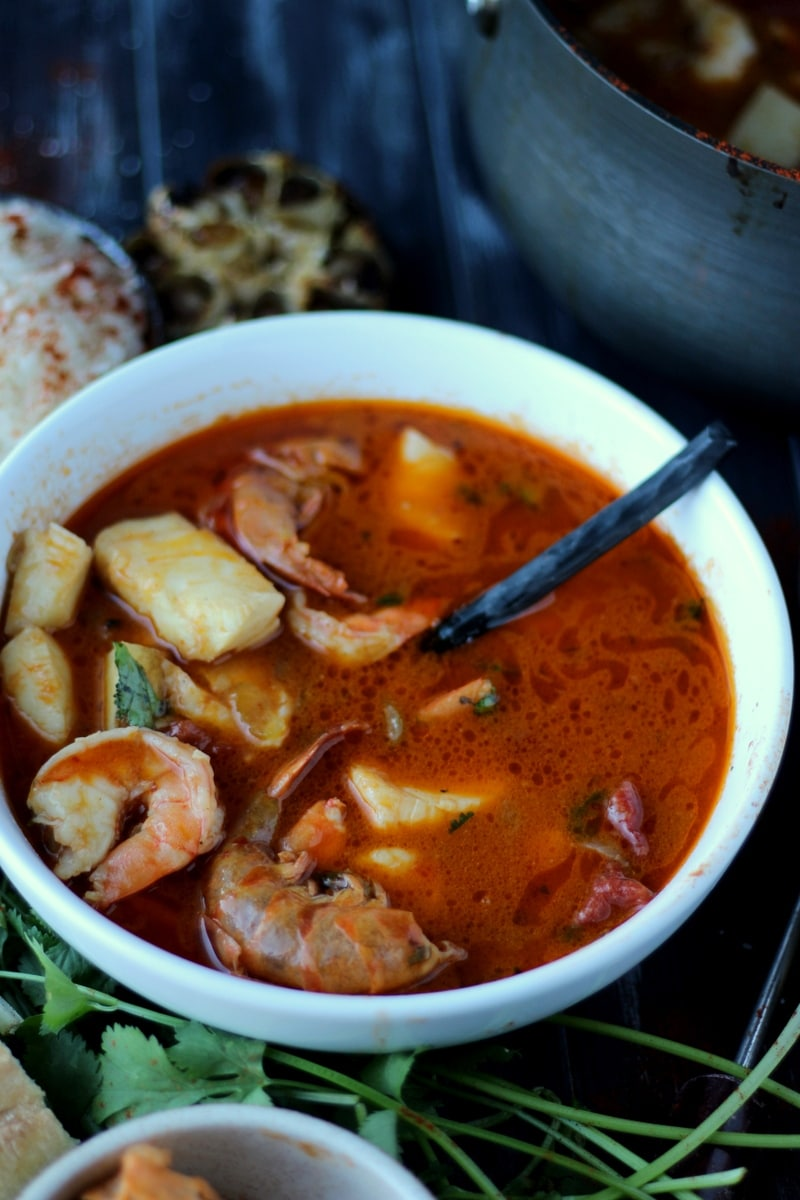 Buttery Brazilian Fish Stew - how to make moqueca. thewoodenskillet.com #foodphotography