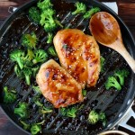 Easy Weeknight Teriyaki Chicken + Broccoli - thewoodenskillet.com
