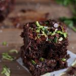Healthy Double-Chocolate Zucchini Brownies
