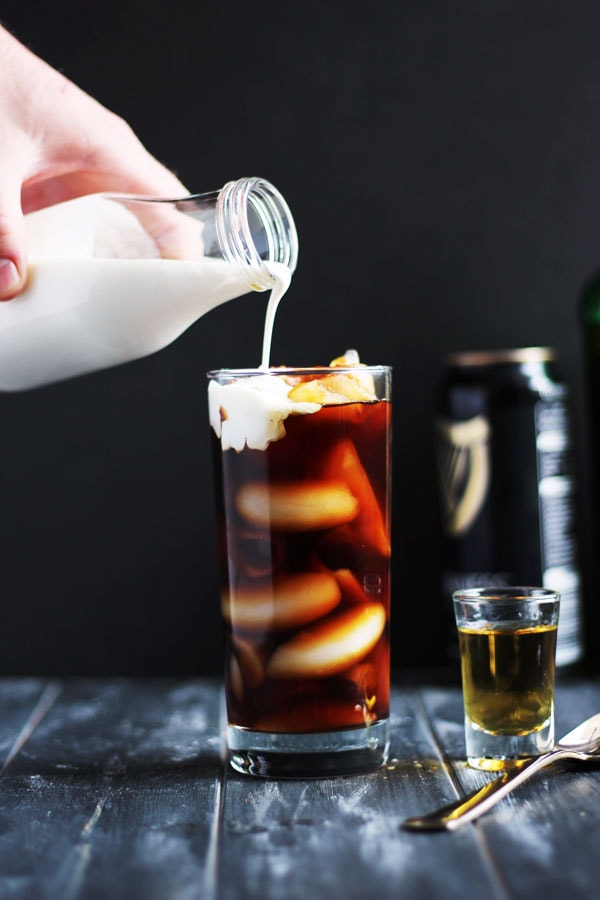 Irish Cold Brew + Cream and Sugar. The perfect St. Patrick's Day cocktail! thewoodenskillet.com