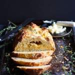 Cheesy Irish Soda Bread + Fresh Thyme and Rosemary