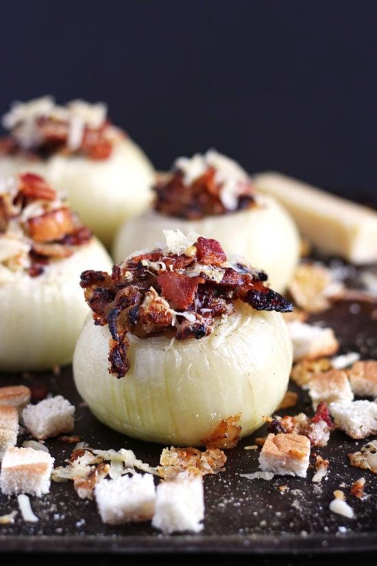 Stuffed Onions + Bacon and Gruyere Cheese