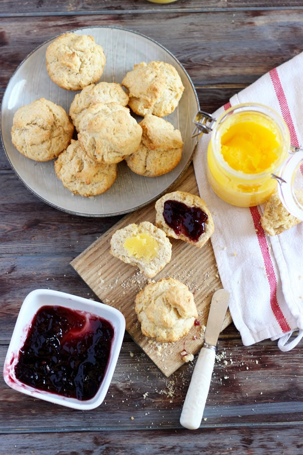 Ghee Breakfast Biscuits + Grape Preserve