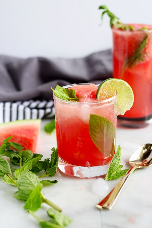 Sweet Watermelon Mint Summer Spritzer